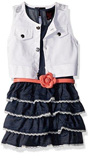 Little Lass Baby Girls 2 Pc Denim Dress & Vest Set