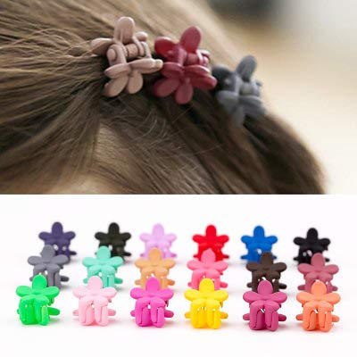 30 PCS Mini Claw Hair Clips Kids Baby Girls Plastic Hairpins Clamp Flower HOT~