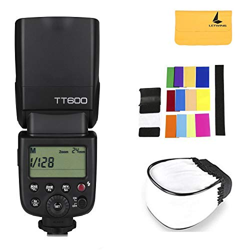 Godox TT600 2.4G Wireless Flash Speedlite Master / Slave Flash with Built-in Trigger System Compatible Canon Nikon Pentax Olympus Fujifilm Panasonic (TT600)