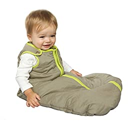 Baby Deedee Sleep Nest Baby Sleeping Bag, Khaki/Lime Green, Small