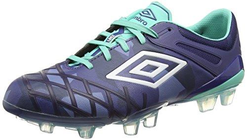 Umbro Ux 2.0 Pro Hg - Botas de fútbol Hombre Azul (Deep Cobalt/White/Marine)