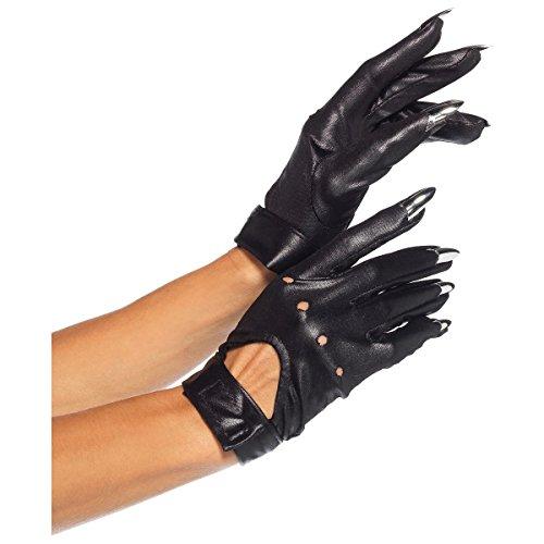 Leg Avenue Claw Motorcycle Gloves Costume Accessory - One (Woman Burglar Halloween Costume)