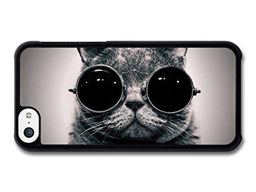 Funny Cat Animal Sunglass coque pour iPhone 5C