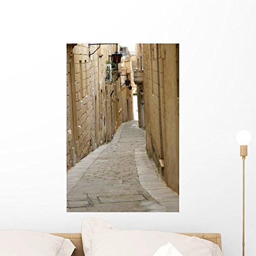 Wallmonkeys Mdina Street Wall Decal Peel and Stick Graphic WM290316 (24 in H x 16 in W)