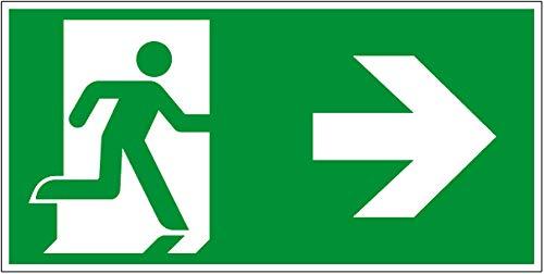Cartel para vías de evacuación ASR A1.3 ISO 7010 ...