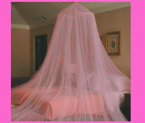 Sid Trading Pink Oasis Princess Bed Canopy for Twin BEDS