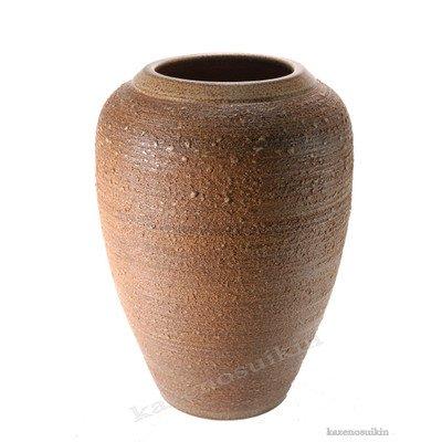 風の水琴工房 窯肌松皮富士口花瓶 16号 - 信楽焼 B076R9NBCK