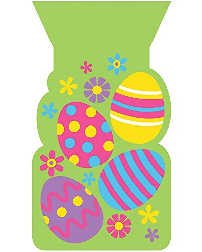 Creative Converting Colorful Eggs Easter Cello Bags Party Supplies, Multicolor