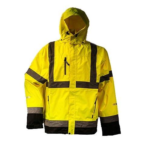 Lyngsoe fox6055 - 53-M tamaño mediano reflectante transpirable chaqueta - amarillo: Amazon.es: Bricolaje y herramientas