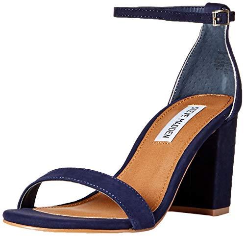 (Steve Madden Women's DECLAIRW Heeled Sandal, Navy Nubuck, 6.5 W US)