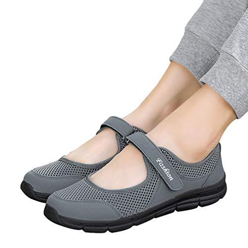 Velcro Donna Sportive Scarpe Walking Ginnastica Antiscivolo Running Mary Grigio Assorbenti Estive Calzature Maglia Da Scuro Con Jane Shock rwr10qX