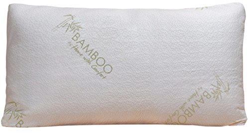 Bamboo Pillow - Shredded Memory Foam - Stay Cool Removable C