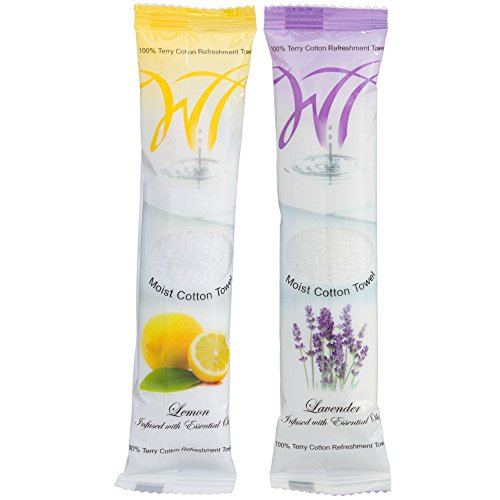 Moist Cotton Towel - Lemon and Lavender (Case of 100)