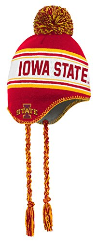 (NCAA by Outerstuff NCAA Iowa State Cyclones Toddler Jacquard Tassel Knit Hat w/ Pom, Red, Toddler One Size)