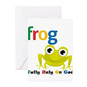 Amazon cafepress frog greeting card note card greeting cards m4hsunfo