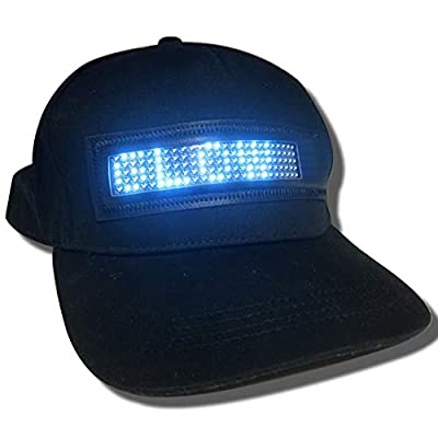 Glow Products Light Up Message Hat - Scrolling Message Light Up LED Hat: Clothing