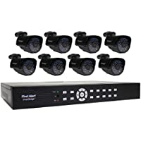 First Alert SmartBridge DCA16810-520 16-Channel Security System with 1TB Hard Drive and 8 Hi-Res Video Camera with 1.0-Inch LCD (Black)