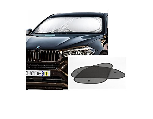 Car Windshield Sun Shade Shield | Auto Sunshade For Front Windshield Plus 2 Front Side Windows Shades Provide Heat, UV Protector & Reflector, Keeps Vehicle Cool | Car Sunshades Protection - Reflector Shades