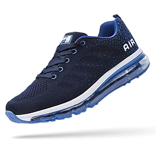 UPSOLO Mens Fitness Cross Trainer Shoes Trail Running Walking Casual Air Cushion Footwear Breathable Jogging Outdoor Sports Tennis Sneakers(833 Blue 41)