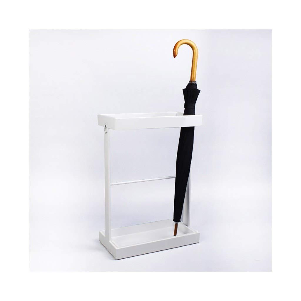 Home Office Supermarket Bank Umbrella Bucket. MDBLYJHome Creativity American Simple Umbrella Stand Color : White