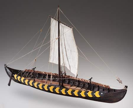viking ship wood model kit - 7