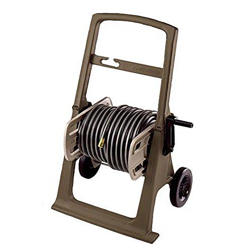 Suncast Hosemobile Garden Hose Reel Cart - Lightweight Portable Garden Cart with EasyLink and Crank Handle - 225' Hose Capacity - Mocha and Taupe ()