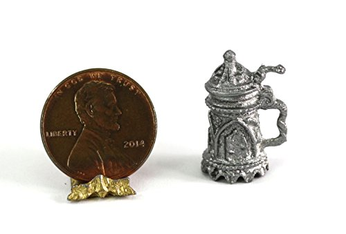 Mulberry Miniatures Dollhouse Miniature Old Fashioned Metal Beer Stein