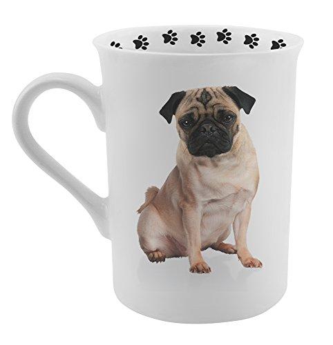 (Dimension 9 Pug Coffee Mug, White)