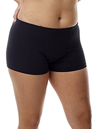 Underworks Women's Cotton Spandex Boxers Bloomers Boyleg