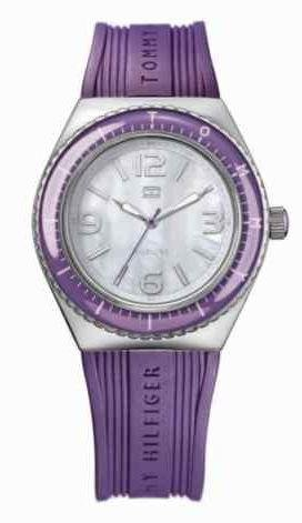 Stainless Steel Mop Watch - Tommy Hilfiger MOP Dial Stainless Steel Silicone Quartz Ladies Watch 1781033