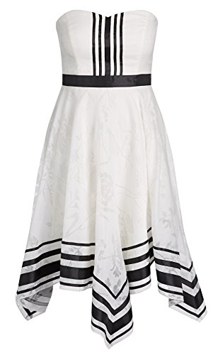 City Chic Womens Plus Sweet Sacha Asymmetric Shadow Print Party Dress