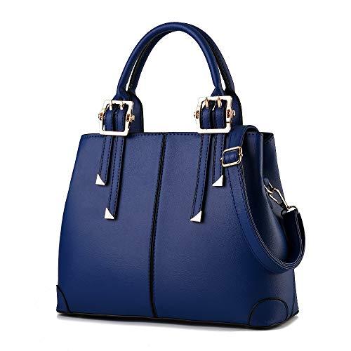 Messenger Dama Limotai Handbag Pu Casual Bolso Tote Blue Mujer wCXEXAq
