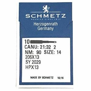 10 Pk. Schmetz 206X13 HPX13 Size 14 Flat Shank Needles For Singer 206, 306, 319 Cutex Sewing Supplies 130/705H