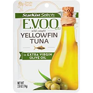 Starkist Yellowfin Tuna in Extra Virgin Olive Oil, 2.6-ounce Pouch (Pack of 6)