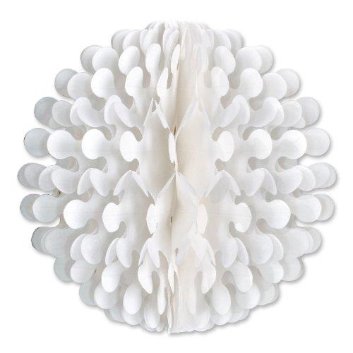 Beistle 1-Pack Tissue Flutter Ball, 9-Inch, White