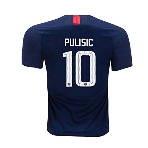 Mens Pulisic Jersey US Away #10 Star Christian National 2018/19 Sizes Blue (Blue, X-Large)