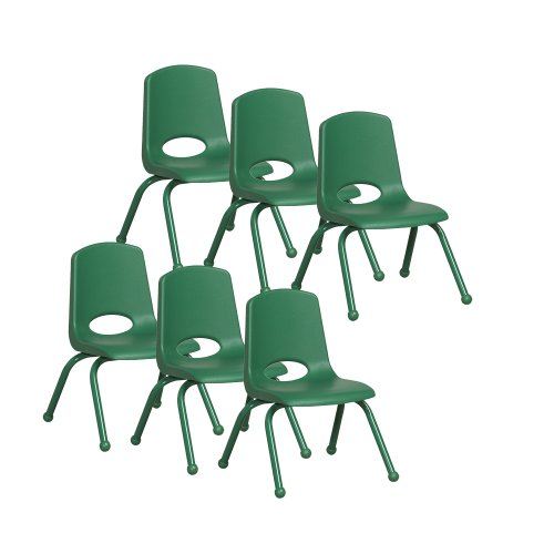 """ECR 12"""" School Stack Chair with Powder Coated Legs and Ba..."""