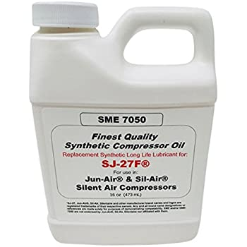 SME 7050 Synthetic Compressor Oil SJ-27 Compatible 16oz