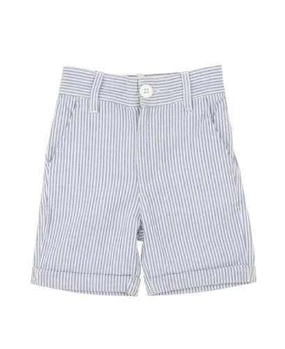 RuggedButts Little Boys Blue Seersucker Shorts - 4T