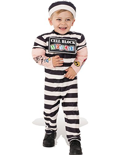 Rubie's Costume Child's Lil Prisoner Costume, X-Small, Multicolor -