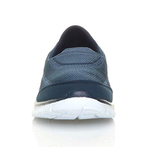 De Bleu Pointure Sneakers Plat Sport À Gym Foncé Baskets Mémoire Mousse Chaussures Femmes fwPZYqY