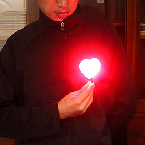Enjoyer Heart Light Magic Tricks Stage Illusions Magic Gimmick Light Appearing/Disappearing Magic Props Lovely Party Accessories
