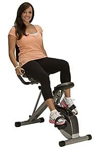 Exerpeutic 400XL Folding Recumbent Bike with Equipment Mat