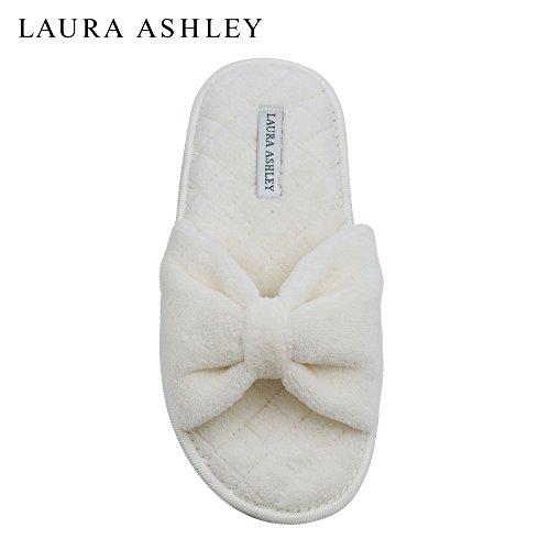 Laura Ashley Mesdames Pantoufles Ouvertes Toe Spa Avec Arc Et Mousse Semelle  En Mousse Mémoire 2cb2ab1c814f