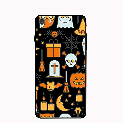 iPhone6 Plus Case Cartoon Halloween Printed Hard PC Durable Rubber Protective Case Cover Compatible for iPhone 6 Plus 5.5 inch -