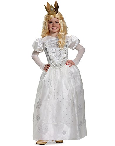 Alice Movie Costumes (White Queen Deluxe Alice Through The Looking Glass Movie Disney Costume, Medium/7-8)