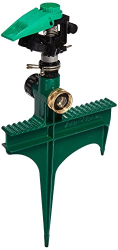 (Rain Bird P5RLSP Plastic Impact Sprinkler on Large Metal Spike, Adjustable 0° - 360° Pattern, 25' - 41' Spray)