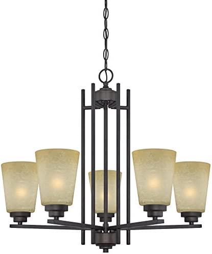 Westinghouse Lighting 63443C Ewing 5 Light Indoor Chandelier, 9.25 x 24.41 x 25.59 , Oil Rubbed Bronze
