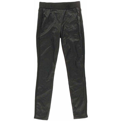 Bar III Women's Faux-Leather Front Paneled Leggings (X-Small, Deep Black) by Bar III