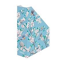 Herlitz Ladylike Birds archivador organizador Cartón Azul, Rosa, Blanco - Organizador de almacenaje (Cartón, Azul, Rosa, Blanco, A4, 225 mm, 300 mm, 75 mm)